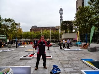 UrbanCrazy Minigolf Course at Regent's Place in London