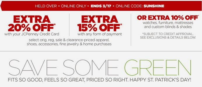 JC Penney Online Coupon