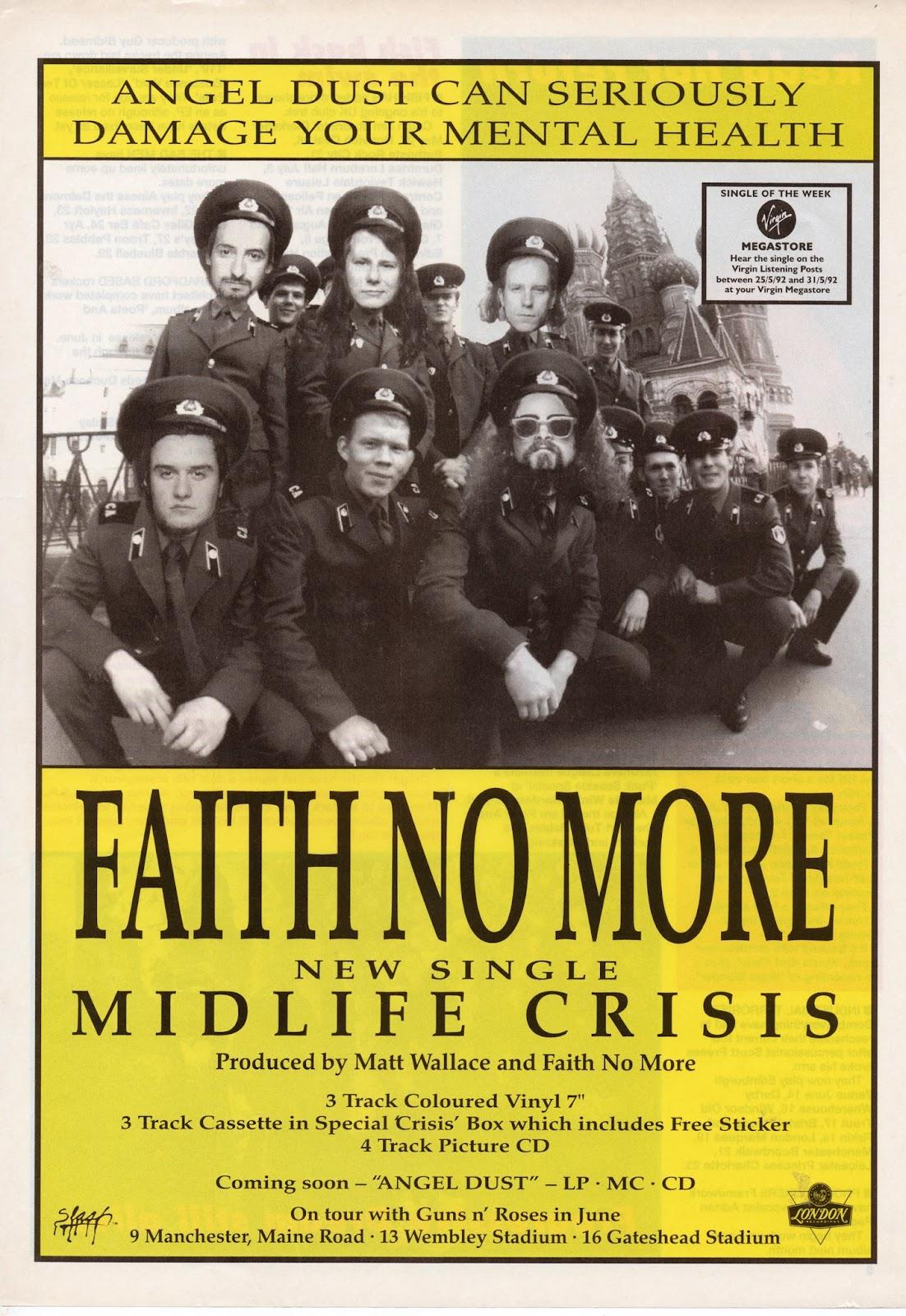 FAITH NO MORE - MIDLIFE CRISIS LYRICS