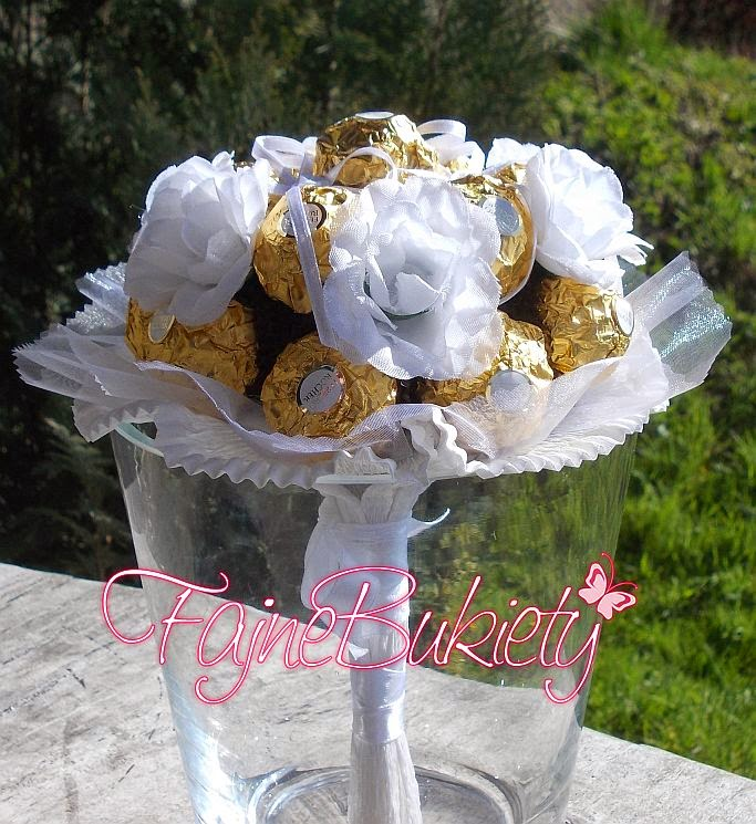Bukiet z cukierków na Pierwszą Komunię Świętą