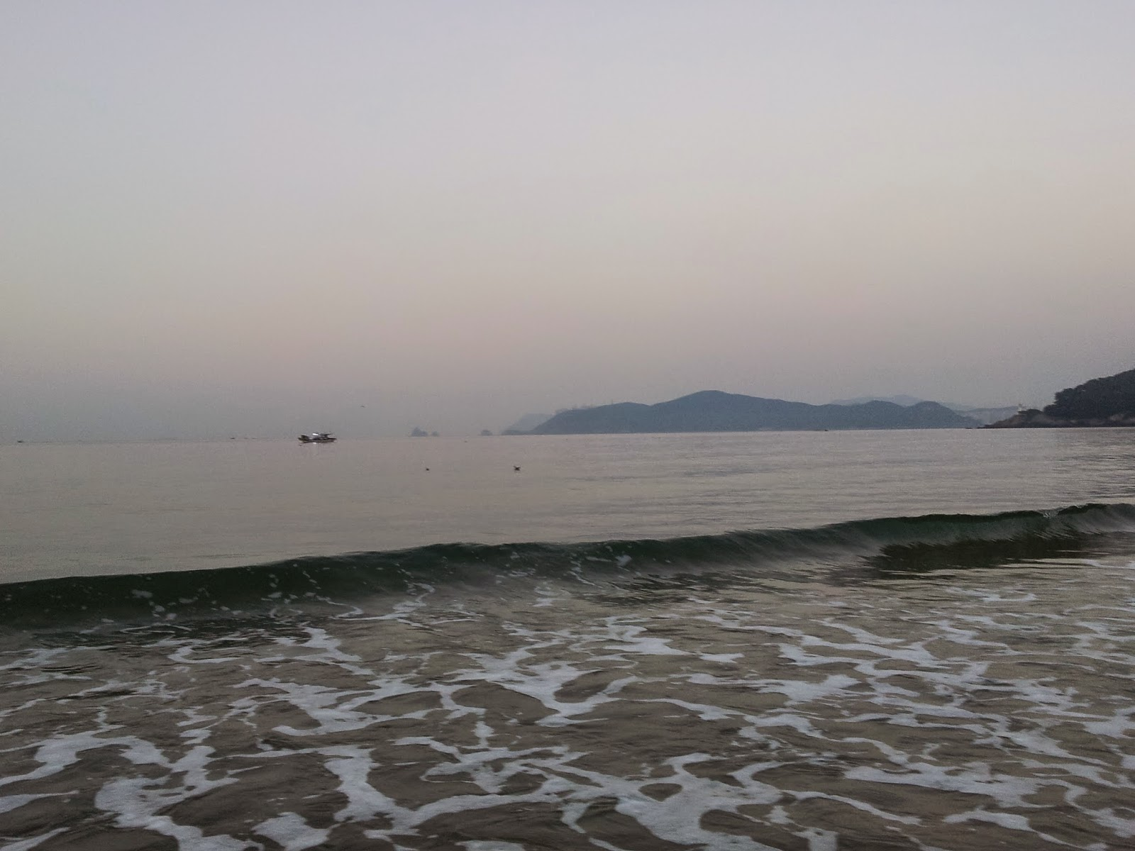 waves from Busan Haeundae beach