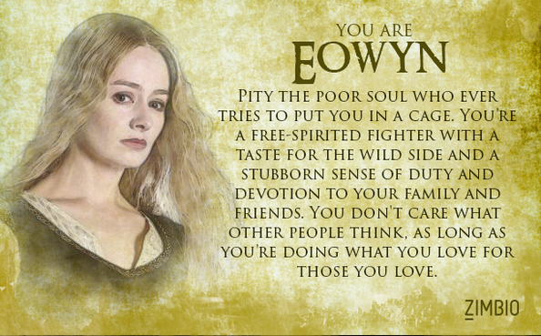 Am I Eowyn....