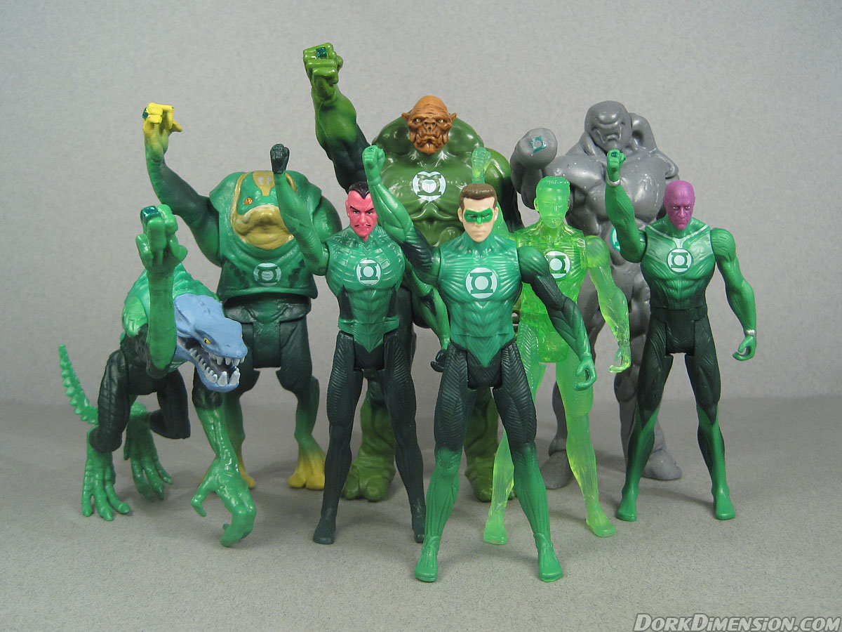 dork dimension bulk toy review green lantern movie corps from waves 1 and 2 mattel. Black Bedroom Furniture Sets. Home Design Ideas