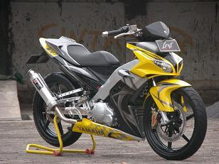 Modif Jupiter mx  kuning sporty