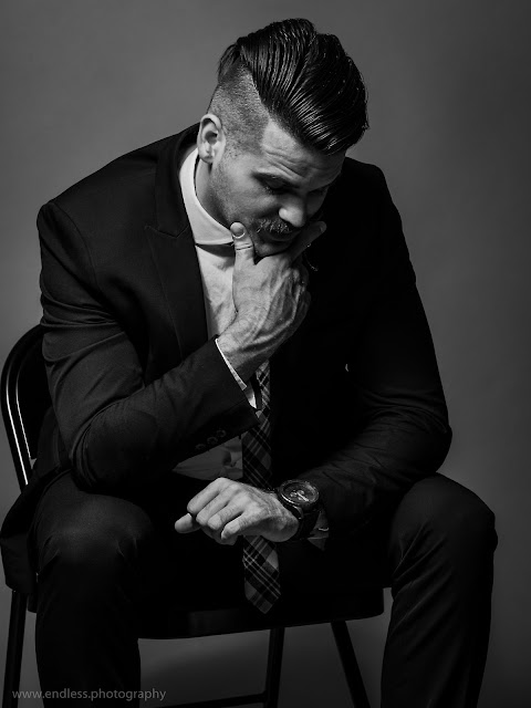 Logan Utah Portrait Photographers, Men's Fashion, Men, Suits, Studio, Fashion, Mustache