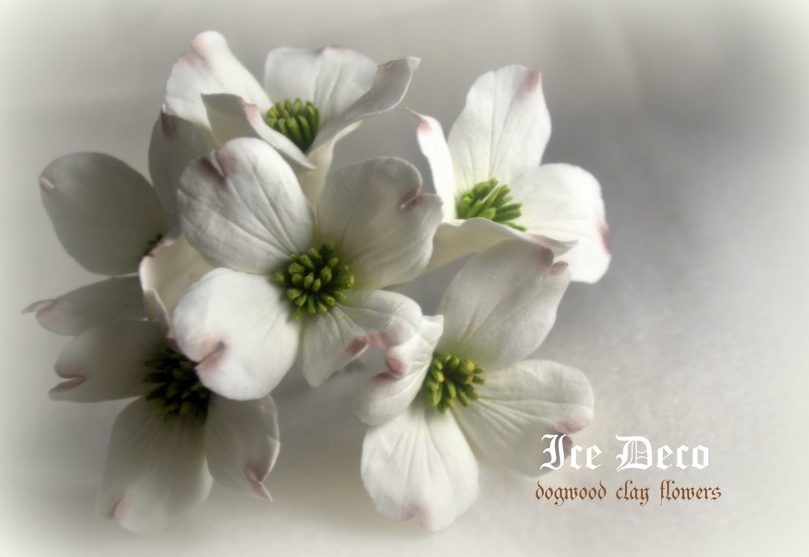 Ice deco dogwood deco clay flowers dogwood deco clay flowers izmirmasajfo Images