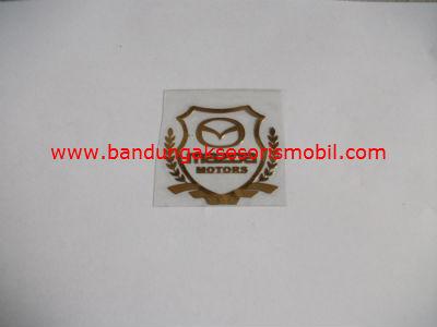 Emblem Alumunium Kotak Kecil Logo Mobil Mazda