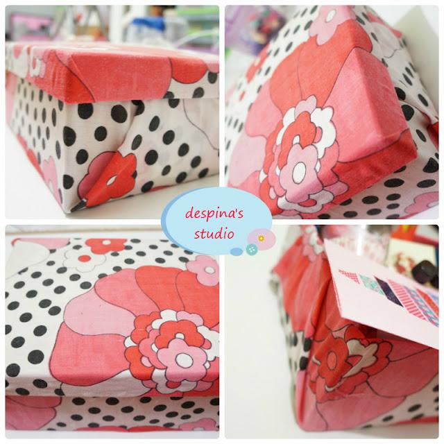 Κουτί ντυμένο με ύφασμα