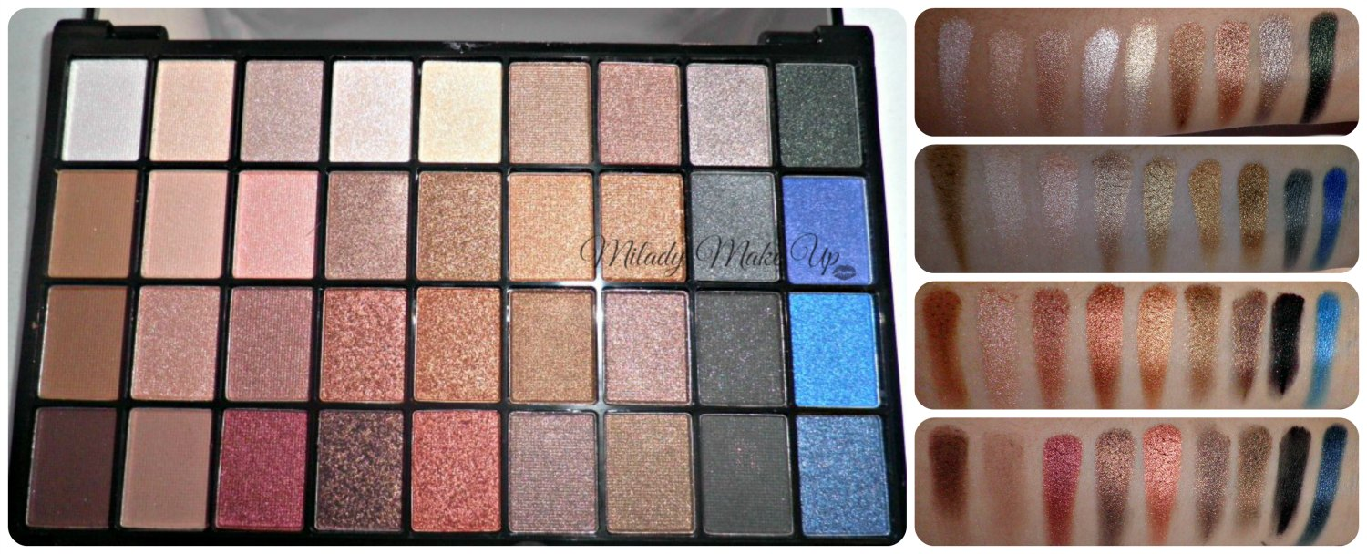 Explicit Content I heart makeup palette swatches