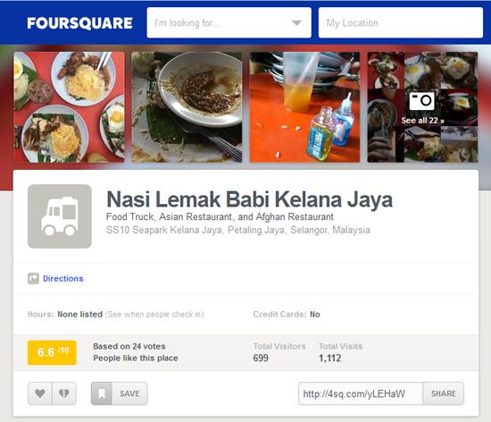 Foursquare - Nasi Lemak Babi Kelana Jaya