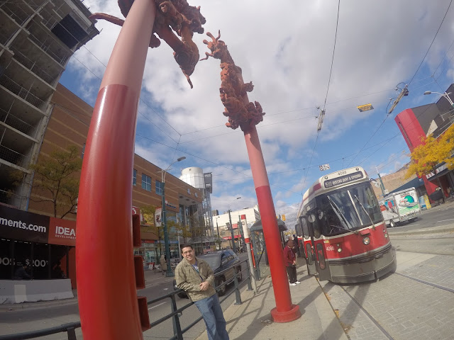 Streetcar em Toronto, Canadá.