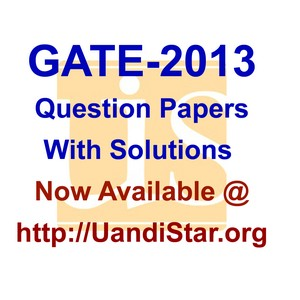 Gate 2013 Question Papers and Answer Keys of All Branches