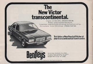 Vintage advertisement for the Vauxhall Victor, c.1972
