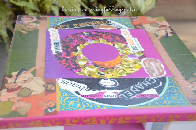 DIY decoupage table