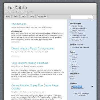 Xplate Blogger Template. minimalist blogger template