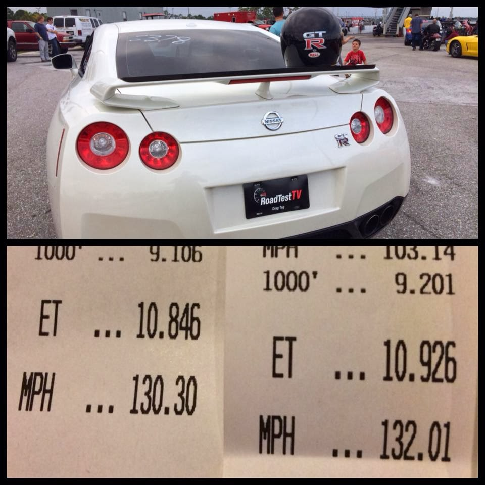 Custom Upgraded 2010 Nissan GTR 10.8 and 10.9 @ 132 on Drag Strip