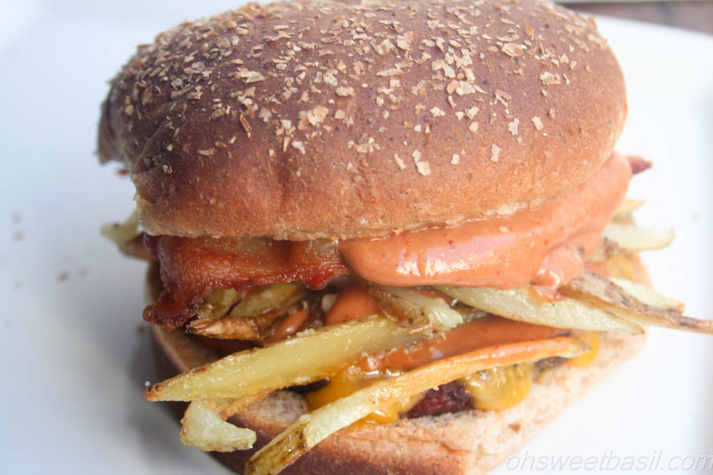 Fajita Burgers - Oh Sweet Basil