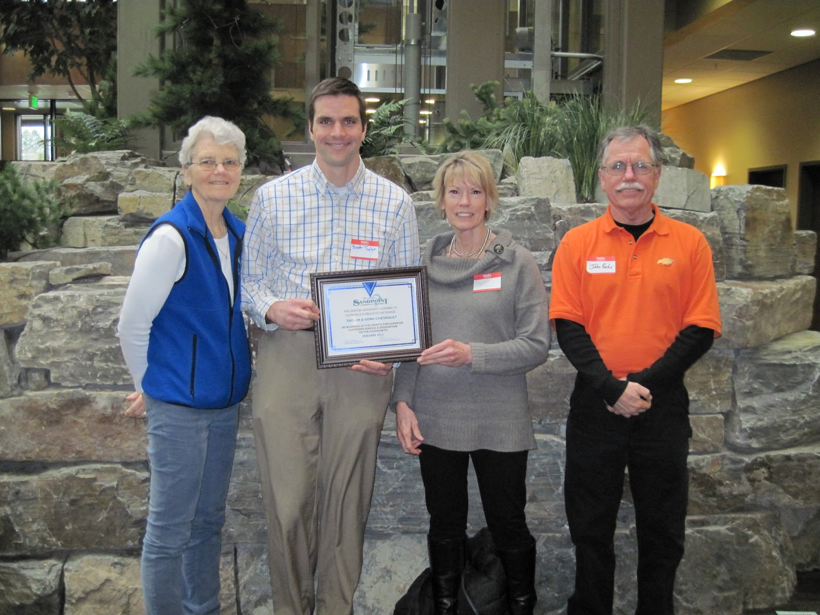 Beautiful Chamber Honors Taylor U0026 Sons Chevrolet  2013 January Business Of The Month