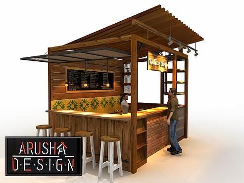 terlampir contoh de   sain booth coffee shop dengan biaya murah desain ...