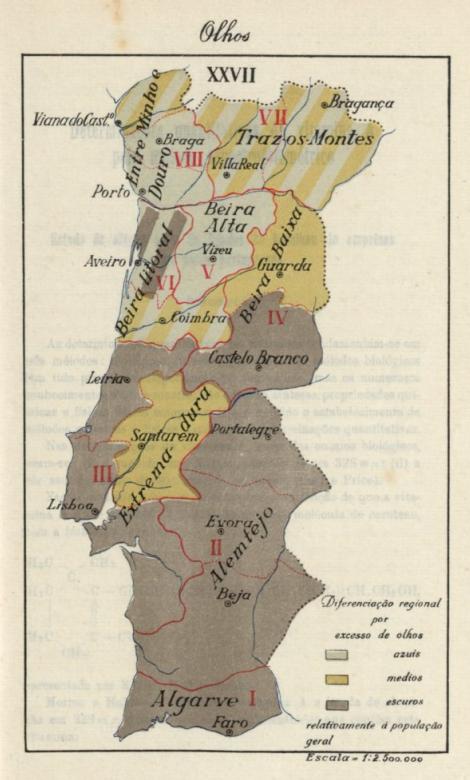 A pigmentação dos portugueses Mapa+da+Cor+dos+Olhos