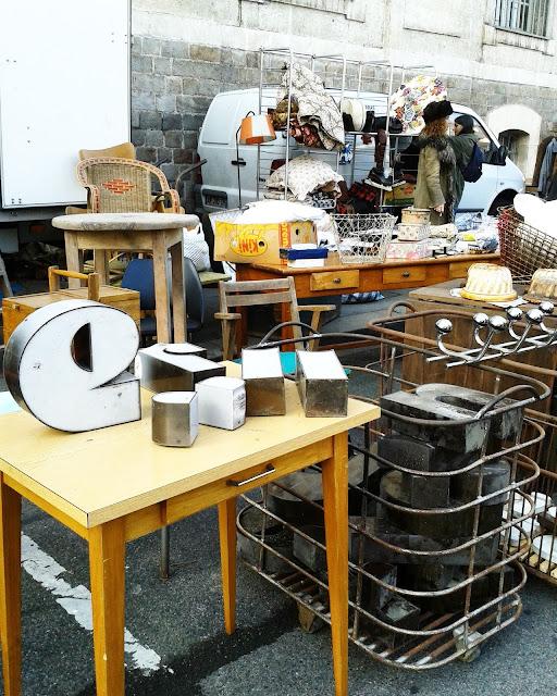 Lettres enseignes /Brocante Amiens / Octobre 2015 / Photos Atelier rue verte /