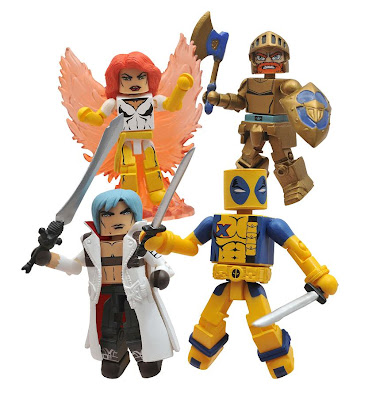 SDCC 2011 Exclusive Marvel vs. Capcom Minimates &#8220;Player 2&#8221; Box Set - Dante, Phoenix, Arthur &amp; Deadpool