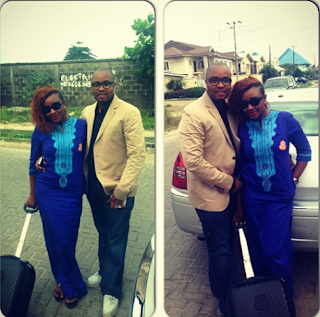 Ini Edo and hubby on Vacation In U.K