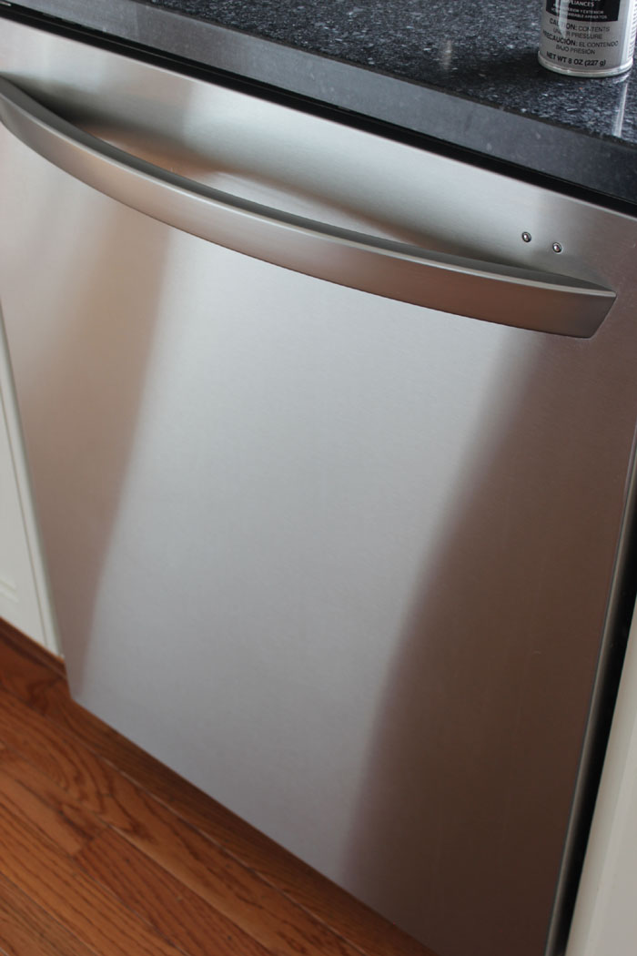 LG stainless steel dishwasher - stream line look