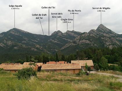 Panoràmica de la Serra de Picancel des de sota La Ferrera