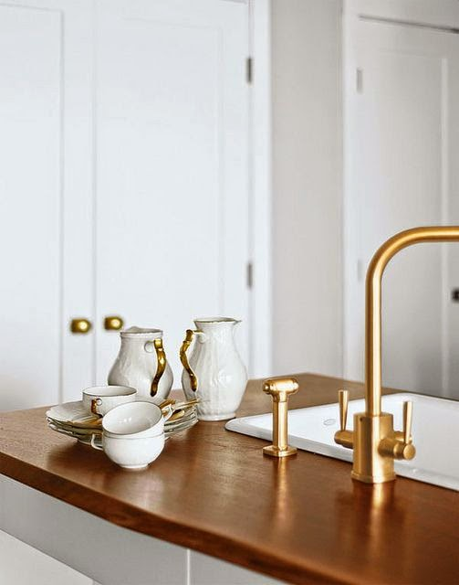 Amazing Brushed Gold Bathroom Faucets By Kohler