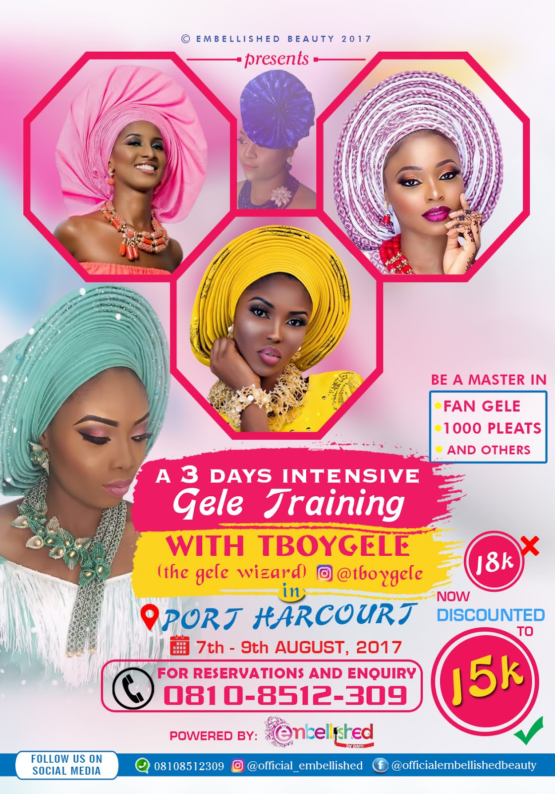 Be a Professional in tying Gele @Tboygele