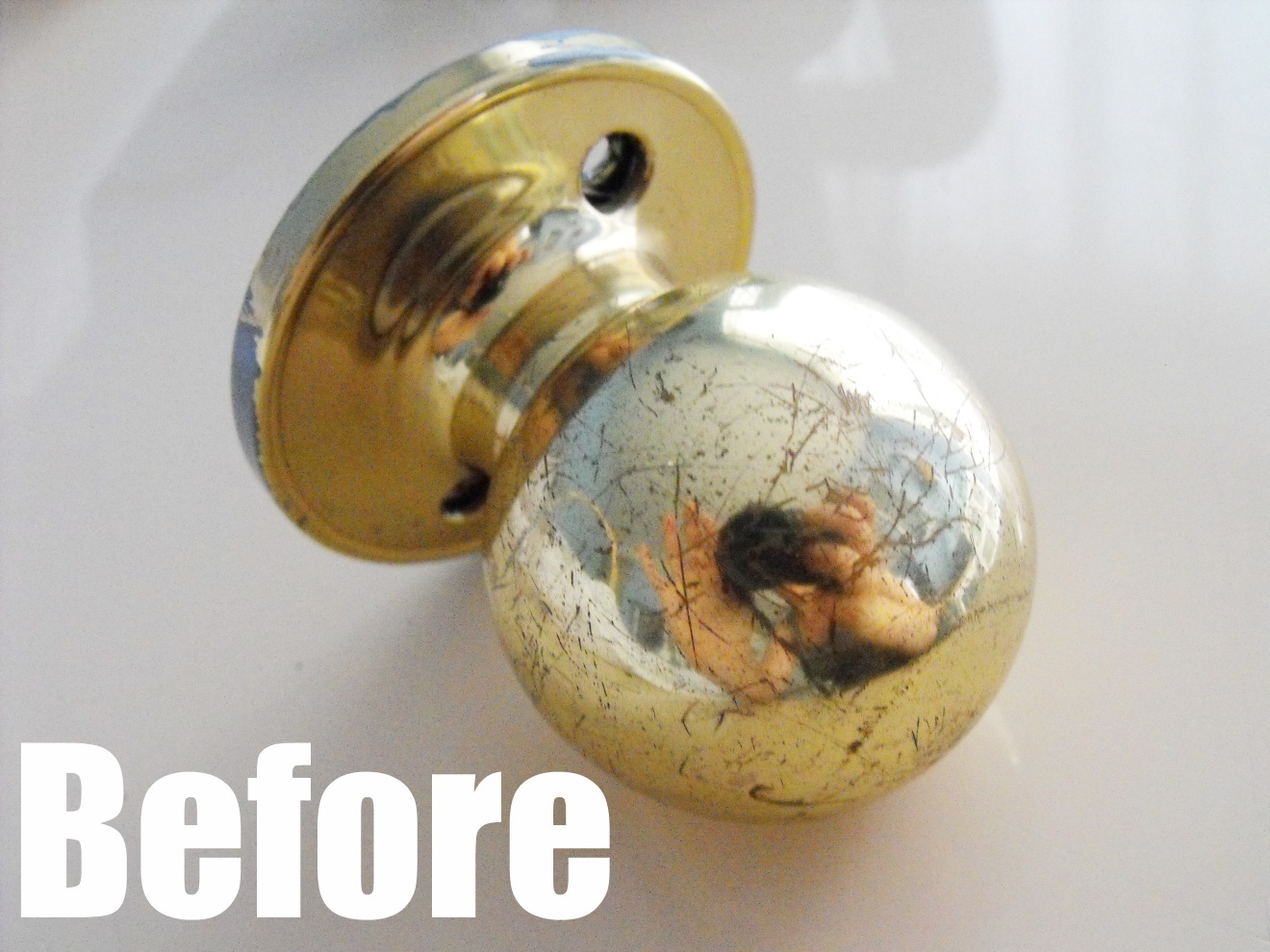 crafty little gnome yes you can spray paint door knobs. Black Bedroom Furniture Sets. Home Design Ideas
