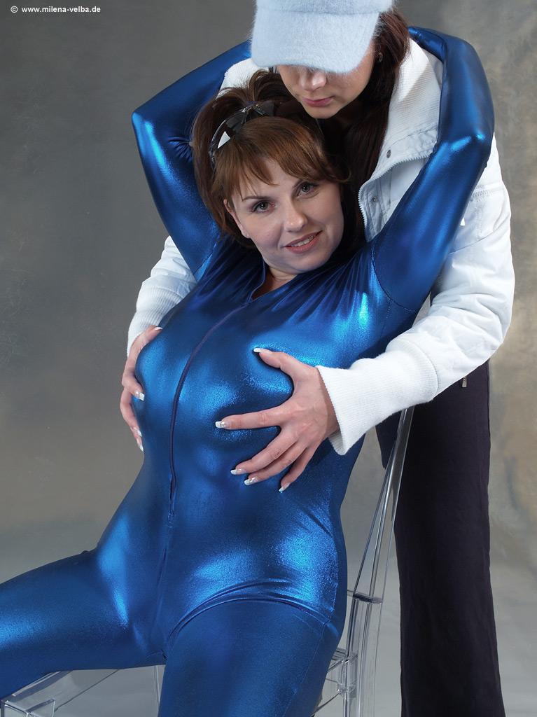 Udderly Amazing: Milena Velba with Nadine - Speed Suit