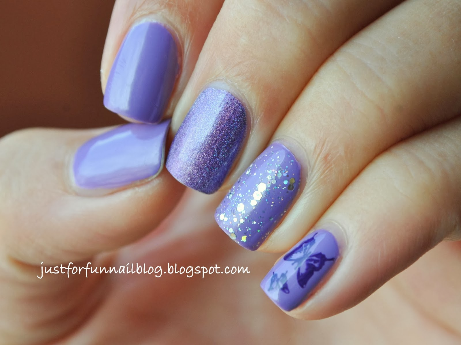 purple nails with OPI - Do You Lilac It