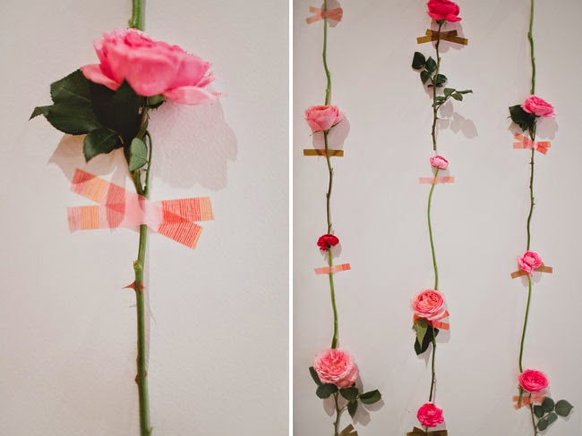 Photocall handmade con flores y washi-tape