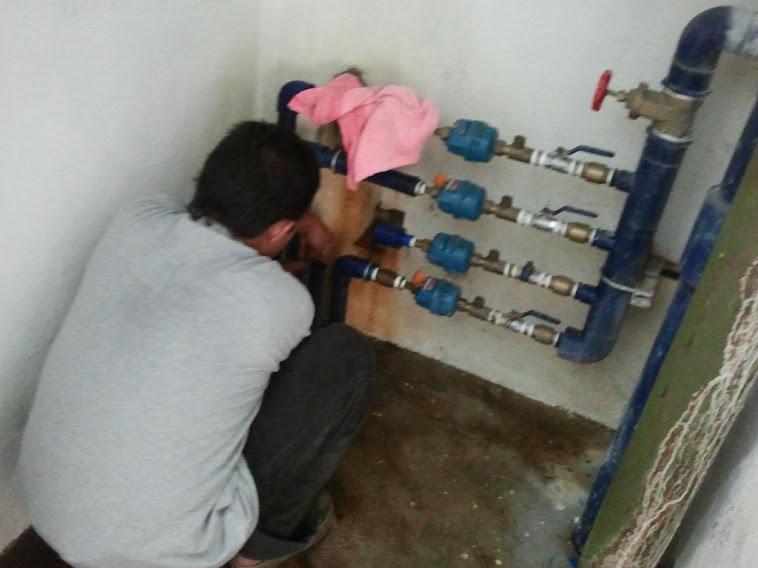 Abs pipe meter