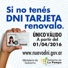 Campaña nuevo DNI tarjeta