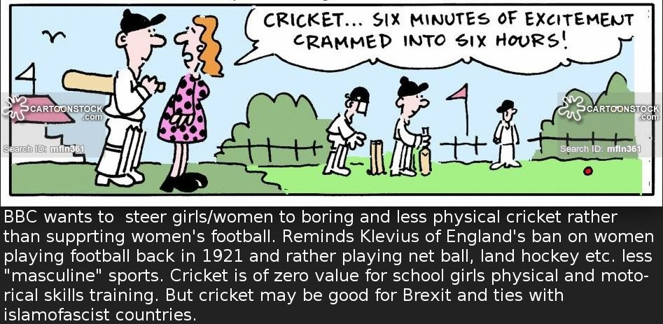 BBC prefers boring and sexist islamofascist friendly cricket instead of football