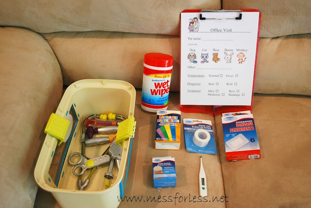 Pretend Play Vet's Office Supplies