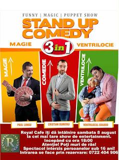 Stand-Up Comedy Magie si Ventrilocie sambata 8 August Falticeni