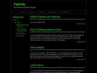 Fastblack Blogger Template