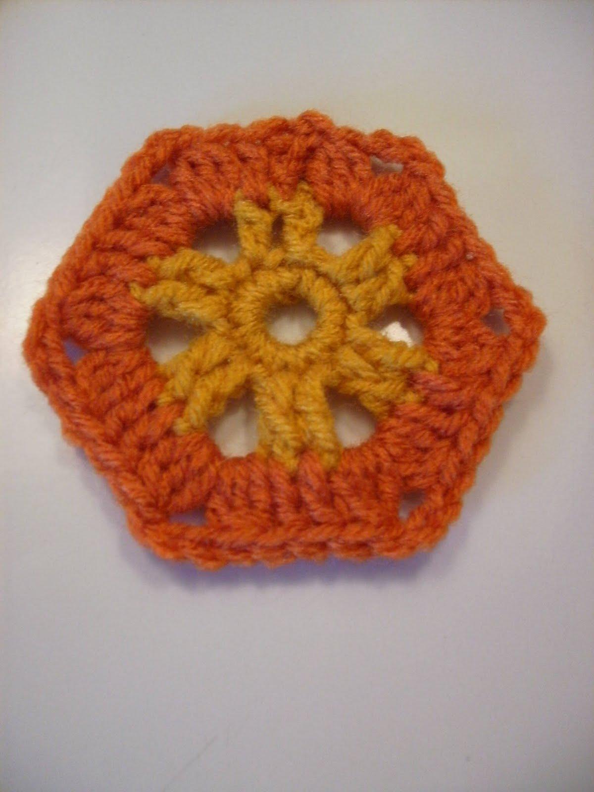 Scrap Yarn Crochet: Free Aztec Sun Hexagon Crochet Pattern