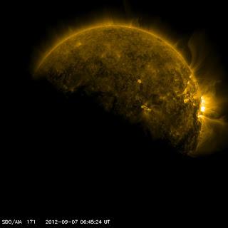latest solar flare activity, sept 7 2012