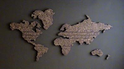 construir decorar Mapa mundi na parede