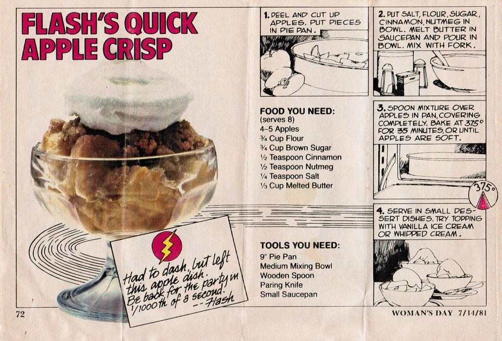 Kitchen Historic Flash S Quick Apple Crisp 1981