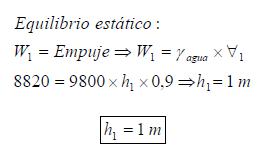 Ejercicio resuelto de Fluidos estatica ejercicio 1 formula 1 equilibrio estatico