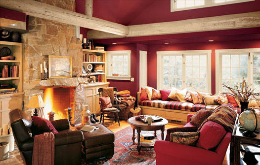 Top Interior Design Red Paint Colours For Living Room