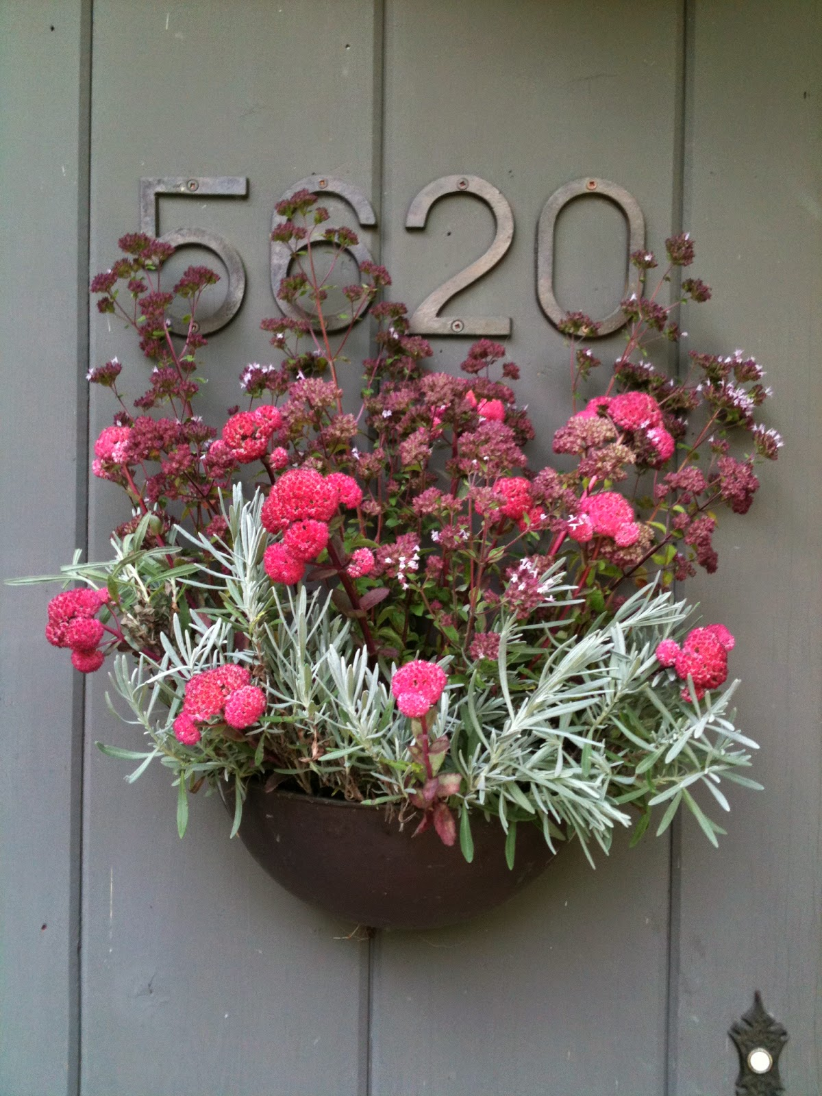 Image of Flower planter with house numbers