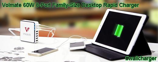 Volmate 60W 8-Port Family-Size Desktop Rapid Charger #wallcharger