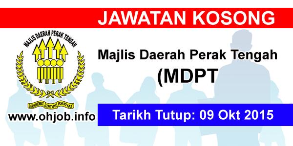 Jawatan Kerja Kosong Majlis Daerah Perak Tengah (MDPT) logo www.ohjob.info oktober 2015